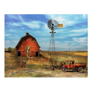 Country - ND - Dirt farming 1936 Postcard