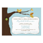 Country Oak Tree Bridal Shower Invitation (blue)