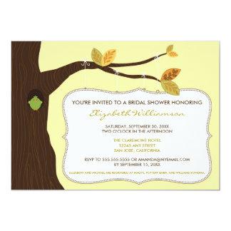 Country Oak Tree Bridal Shower Invitation (lemon)