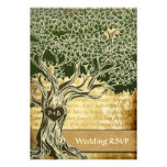 Country Oak Tree Vintage Wedding RSVP Cards Custom Invitation