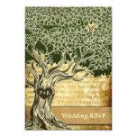 Country Oak Tree Vintage Wedding RSVP Cards Custom Announcements