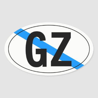 """""""country"""" of Galicia Oval Sticker"""