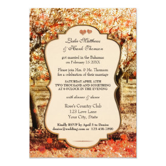Country Orchard Wedding Reception Only Invitation