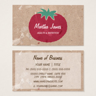 Country Organic Craft Paper Tomato Nutrition Business Card