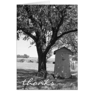 Country Outhouse Thank You Card