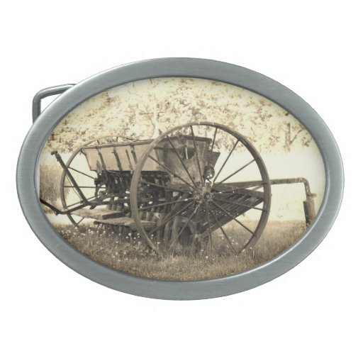 country oval belt buckle