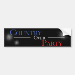 Country Over Party - Bumper Sticker