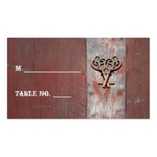 Country Painted Wood Keys Wedding Place Cards Double-Sided Standard Business Cards (Pack Of 100)