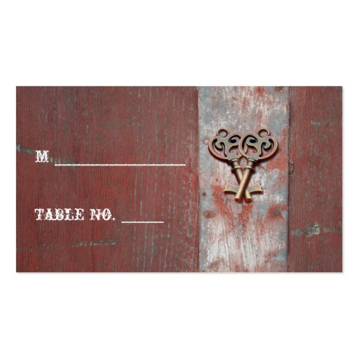 Country Painted Wood Keys Wedding Place Cards Business Card Templates
