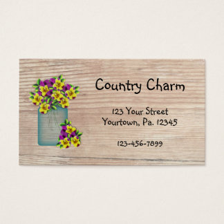 Country Pansies Business Card