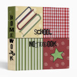 Country Patch Books Star School Notebook Binder