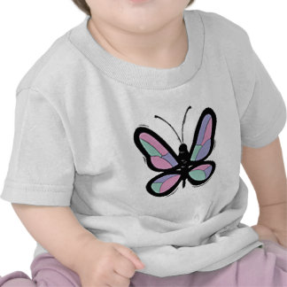 Country Patchwork Butterfly Tee Shirts