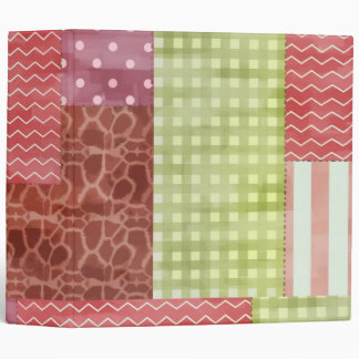 Country Patchwork Chic Pattern Quiltblocks Binder