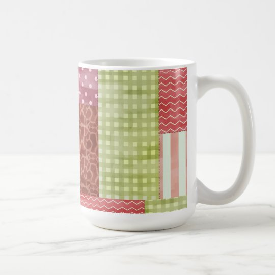 Country Patchwork Chic Pattern Quiltblocks Coffee Mug