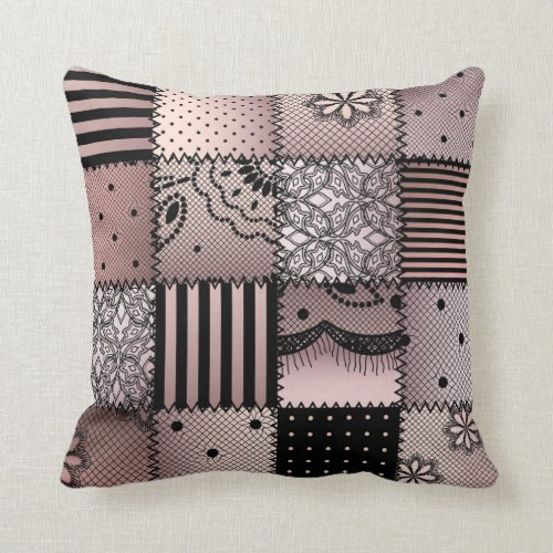 Country patchwork pattern fun picture pillow