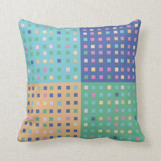 Country patchwork quilt blocks throw pillow