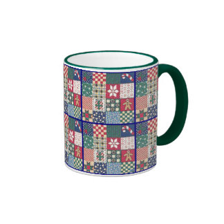 Country Patchwork Quilt Mug Cup