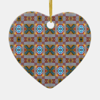 country pattern ceramic ornament