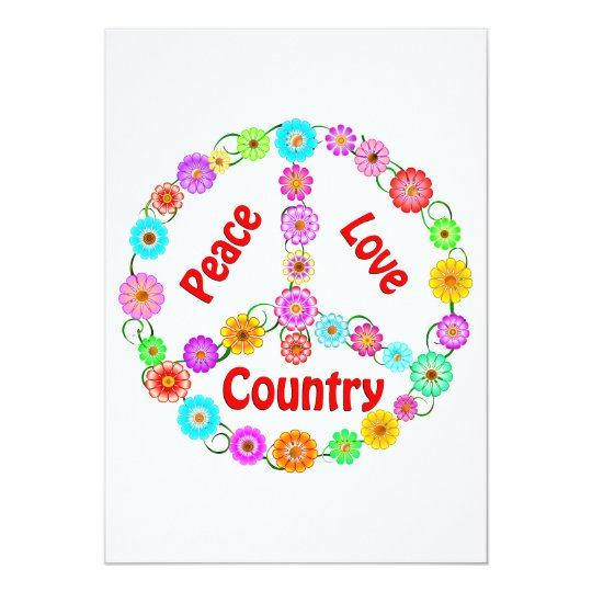 Country Peace Love Card