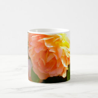 Country Peach Roses Coffee Mug