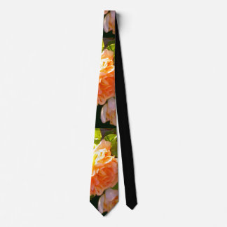 Country Peach Roses Neck Tie