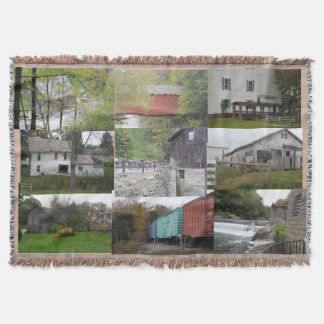 COUNTRY PHOTOS THROW BLANKET