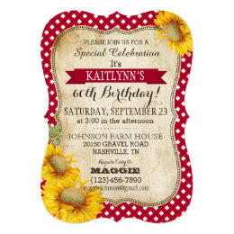 Picnic birthday invitations announcements zazzle country picnic with sunflowers birthday invite filmwisefo Image collections