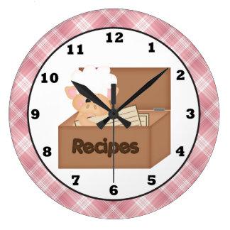 Country Pig cartoon kitchen wall clock