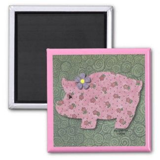Country Pig Magnet