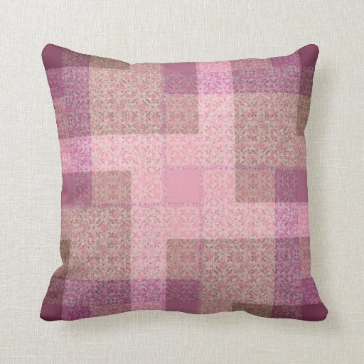 Country Pink Patchwork Pattern Cushion / Pillow