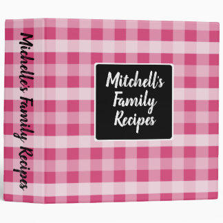 Country Pink Plaid Binder