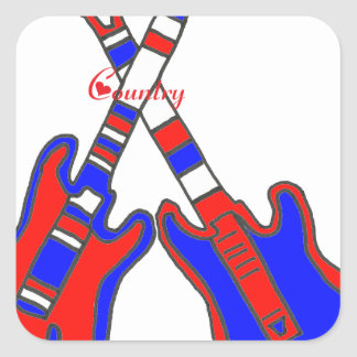COUNTRY.png GUITAR Square Sticker