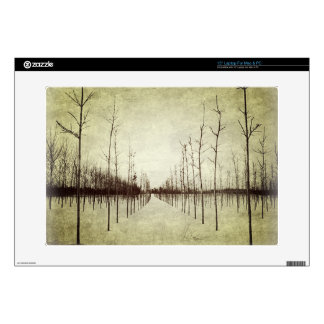 "Country prairie rural landscape winter tree 15"" laptop skins"