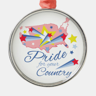 Country Pride Metal Ornament