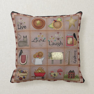 Country Prim Art Sampler Pillow