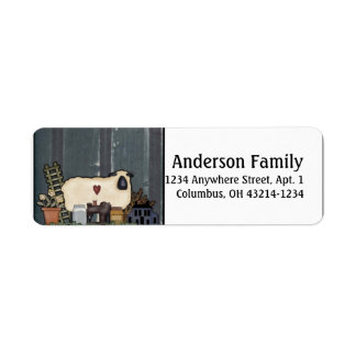 Country Prim Sheep Return Address Labels