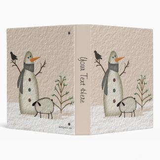 Country Primitive Snowman Binder
