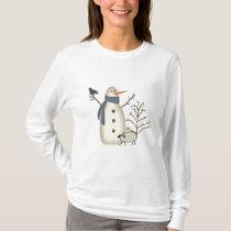 Country Primitive Snowman Shirt