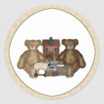 Country Primitive Teddy Bears & Toys Stickers