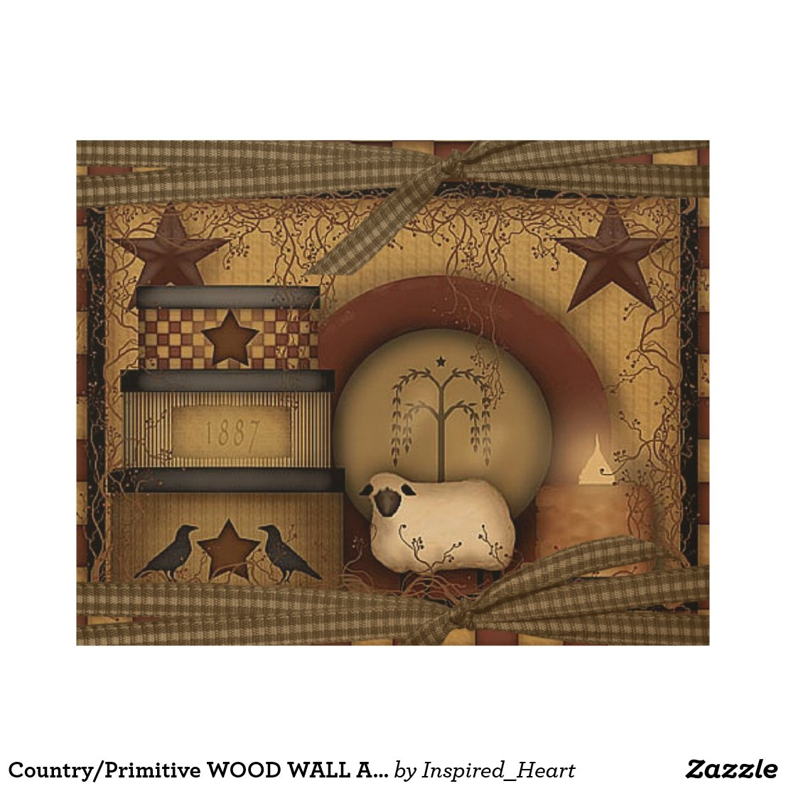 Country/Primitive WOOD WALL ART 10X8