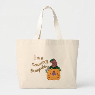 Country Pumpkin Canvas Bags
