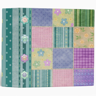 Country Quilt Patches and Buttons Binder