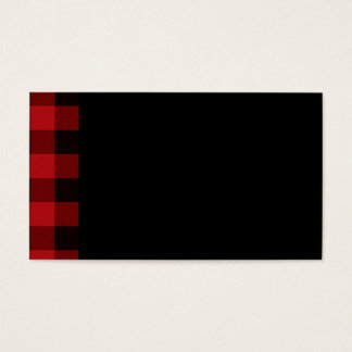 Country red and black plaid business card