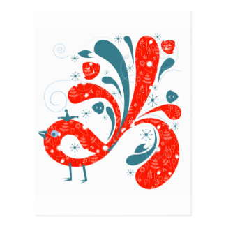 Country Red and Blue Bird Post Cards