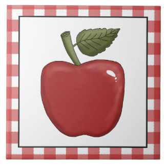 Country Red apple kitchen tile
