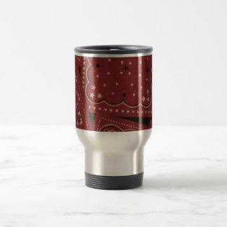 Country Red Bandana Stainless Steel Travel Mug