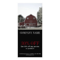 country red barn Organic farmer agriculture Rack Card