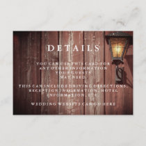 Country Red Barn Wedding Guest Details Enclosure Card