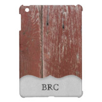 Country Red Barn Wood Personalized Case For The iPad Mini