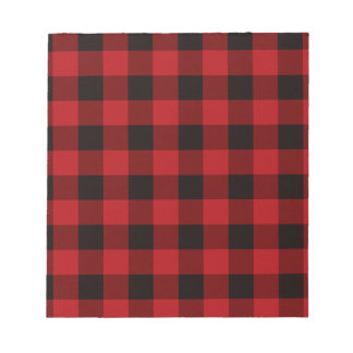 Country red plaid notepad